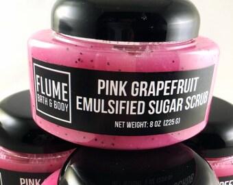 Pink Grapefruit Sugar Scrub - Valentines Gift, Pink Grapefruit Sugar Scrub, Body Scrub, Spa Scrub, Body Exfoliator Shower Scrub Citrus Fruit