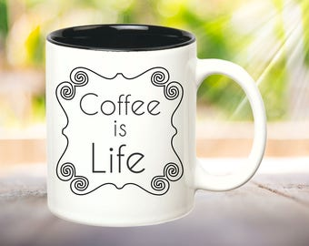Coffee is Life Funny Coffee Mug Funny Mugs Office Mug Funny Office Gift Boss Gift Co-Worker Gift Coffee Lover Gifts under 15 Cute Coffee Mug