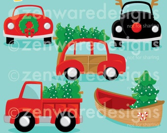 Christmas Vehicles Clipart