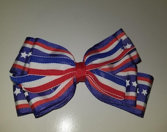 4th Of July Bow (Red,White, & Blue)
