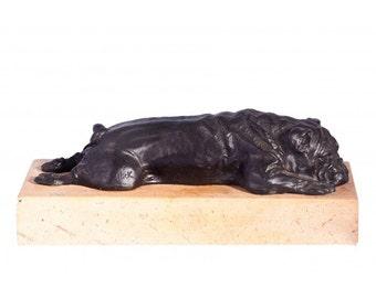 Sunday Snooze Bronze Bulldog Sculpture