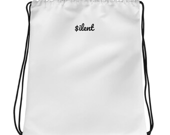 Silent Drawstring bag