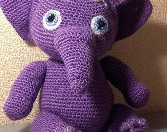 Elephant Crochet elephant Stuffed animal Safari animal Zoo animal Jungle animal Amigurumi Plush toy Cute elephant