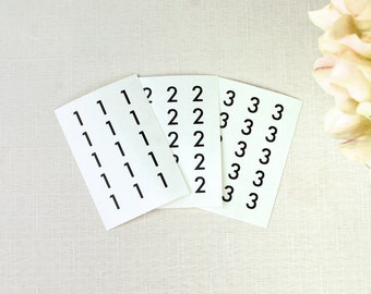 Table Number Stickers Modern Sans-serif font