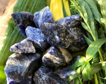 Raw SODALITE Large (Grade A Natural) Rough Blue Crystals Stones Gemstone | Healing Yoga Meditation Reiki Wicca | Throat 5th Chakra