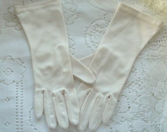 Vintage Kayser Formal Gloves ~ 1950's  Cream Colored Wrist Gloves ~ Church Gloves ~ Social Gloves ~ Wedding ~ Society ~