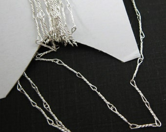 Sterling Silver Chain-Unfinished Bulk chain,Wholesale Unfinished Chain,Supplies,Fancy Twisted Chain,6.7mm,Delicate Chain(20 feet)-sku:101007