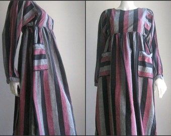 70s 80s vtg  striped dress
