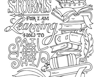 Little Women Coloring Page / Louisa May Alcott / Quotes / Adult / Kids / Printable Download