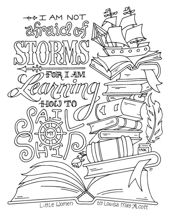 Little Women Coloring Page / Louisa May Alcott / Quotes