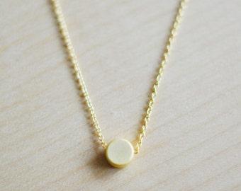 Minimalist Gold Dot Necklace