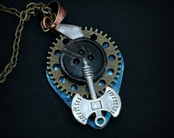 Guitar Pick Necklace  - Industrial Defence Mekhanizm