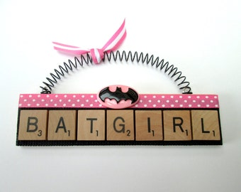 Batgirl Scrabble Tile Ornament