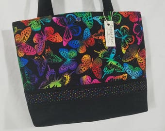 Rainbow Butterflies purse tote bag handbag