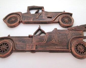 Auto Decor, Vintage Resin Decor, automobile, Antique Car, automotive decor, Dart Industries, Syroco, Downton Abbey, plastic car, art nouveau