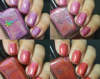 Rose Romance Holographic Mini Nail Lacquer Set Four Indie 5mL Starlight Polish
