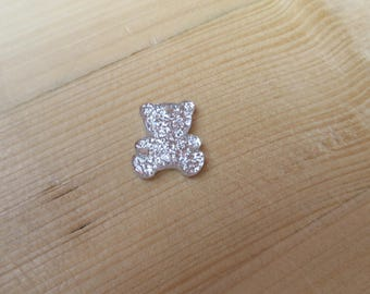 Sequin silver glittery Pooh 23 mm