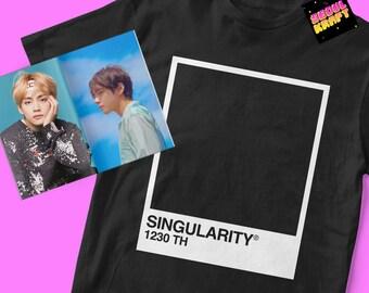 방탄소년단 BTS Taehyung V Singularity Pantone Card Unisex Kpop Shirt | bts kpop | bts | bts shirt