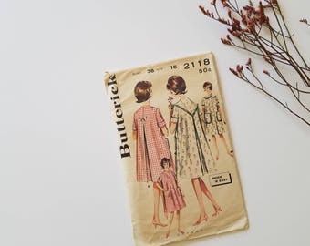 1960s Vintage Butterick 2118 | Size 16 Bust 36 | Dress