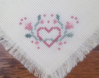 Cross Stitched Bread Cloth