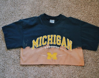 Bleached wolverines football shirt