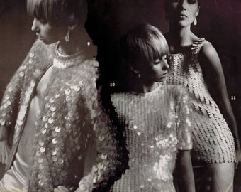 "Three Crochet PDF Patterns Evening Jacket Poor Boy Sweater Bust 32-36"" Vintage Reproduction Instant Digital PDF e Pattern Instant Download"
