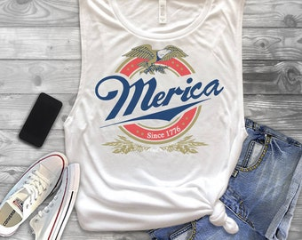 merica tank,miller merica tank, miller merica muscle tank,muscle tank.beer tank,4th of july,beer muscle,drinking shirt,fourth of july shirt,