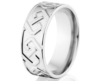 Celtic Design, Cobalt Chrome, Cobalt Ring, USA Made: CB-8F-MC44