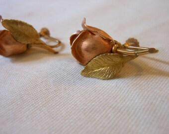 Krementz Rose Gold Filled Screw Back Earrings