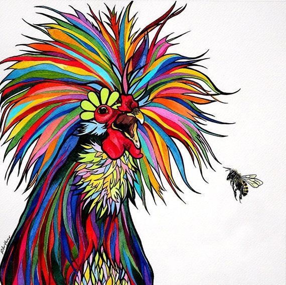 Jetzt verlaufenden Wand-Huhn Kunst Küche Dekor