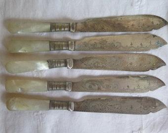 Vintage Fish Knives//EPNS Fish Knives//Fish Knives
