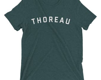 HENRY DAVID THOREAU Shirt, Thoreau Shirt, Thoreau Quote, Thoreau, Walden, Literary Gift, Gift for Writer, Bookish Gift, English Major Gift