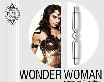Wonder Woman Armband Template (PDF download)