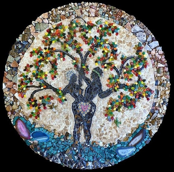 Tree of Life Mosaic Wall Hanging