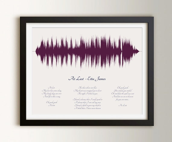1st Wedding Anniversary Gifts Paper: 1st Paper Anniversary Gifts Custom Wedding Song Art First