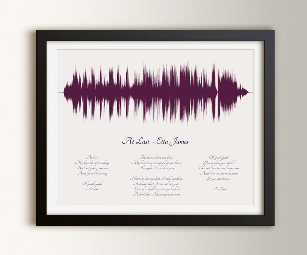 Not On The High Street Wedding Gifts: 1st Paper Anniversary Gifts Custom Wedding Song Art First