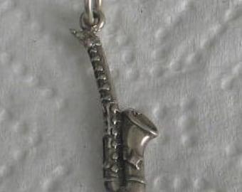 SALE Vintage Sterling Saxophone Charm