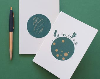 "Set of 2 notebooks for notes/notebook ""Green"" eco-friendly gift collection"
