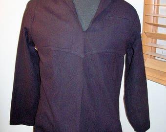 Vintage 40s 50s Wool Sailor Uniform Top / Rockabilly USO Pin Up Girl Shirt / Bombshell VLV Burlesque Costume / US Military