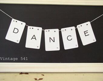 Vintage Letter Banner DANCE