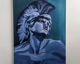 Ares // Greek Series Original 16x20 Acrylic Painting