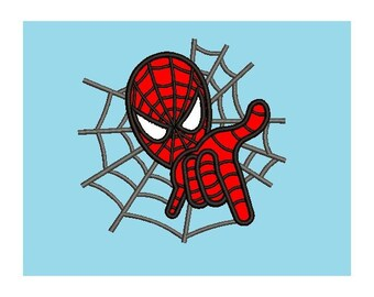 Spiderman Applique Embroidery Design, Instant Download
