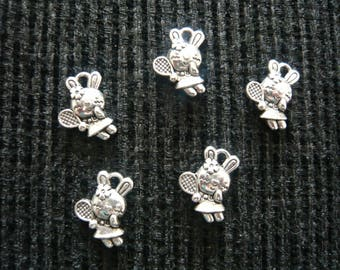 Charm's silver rabbit charms