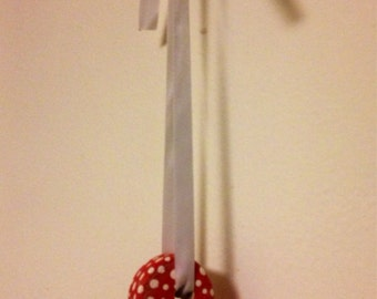 Endearing Red And Cream Polka Dot Hanging Heart