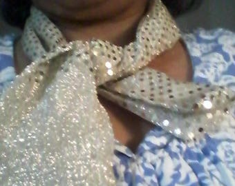 Gold polyester Scarf