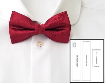 Pdf pre-tied bow tie digital sewing pattern and tutorial Bow tie how to Mens Wedding/Tuxedo/Classic bowtie pdf tutorial Pattern for bow tie