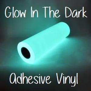 "Glow In The Dark Adhesive Vinyl 12x12 Sheet Halloween Vinyl RTape GlowEfx Craft Vinyl Halloween Decoration 12x12"" Glow In The Dark Adhesive"