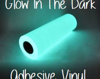 "Glow In The Dark Adhesive Vinyl 12x12 Sheet Halloween Vinyl RTape GlowEfx Craft Vinyl Halloween Decoration 12x12"" Glow In The Dark Adhesive"