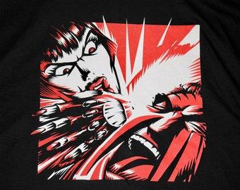 XL * vtg 90s 1997 KMFDM symbols t shirt * aidan hughes Brute! * 100.10