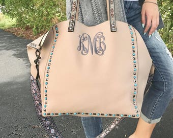 Monogrammed Leather purse, Personalized Purse, Ladies Hand Bag, Pocket Book, Handbag, Personalized Purse, Monogrammed Purse, Blush